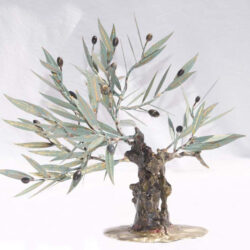 handcrafted bronze artwork olive tree handmade