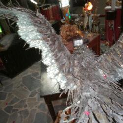handcrafted bronze artwork eagle