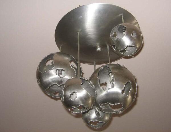 handcrafted bronze light