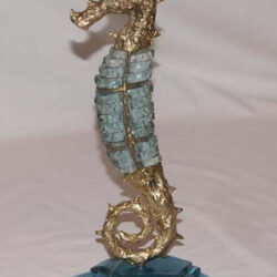 handcrafted bronze artwork seahorse sculpture handmade
