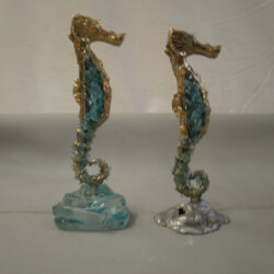 handcrafted bronze artwork seahorse sculpture handmade